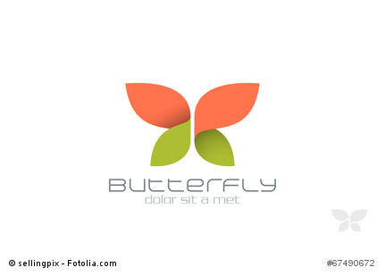 Datei: #67490672 | Urheber: sellingpix | Butterfly Fashion vector logo design template. Insect. Creative Beauty Spa Cosmetics icon.